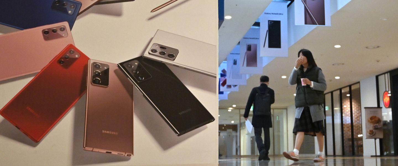 Sans coup férir, Samsung a repris sa couronne des mains de Huawei. |Jung Yeon-je / AFP