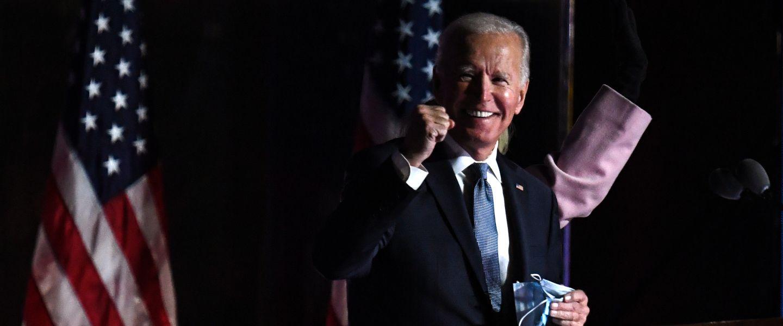 Joe Biden, lors de la nuit de l'élection présidentielle américaine, le 3 novembre 2020.  Roberto SCHMIDT / AFP