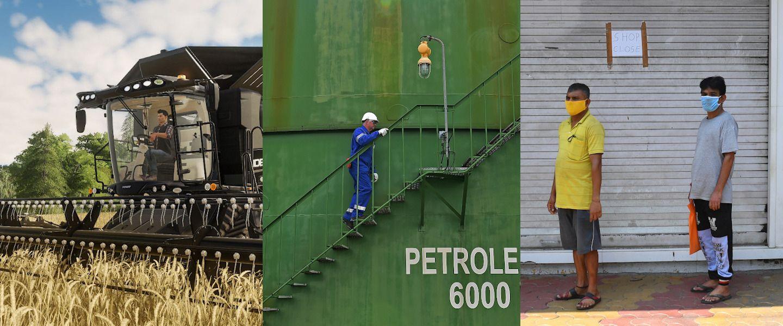 Des jeux pour travailler, le pétrole qui se noie, la menace d'une crise alimentaire, une journée sur korii.