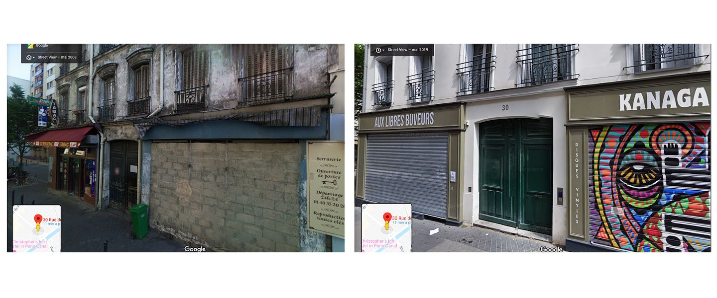 La gentrification de Paris vue par Google Street View